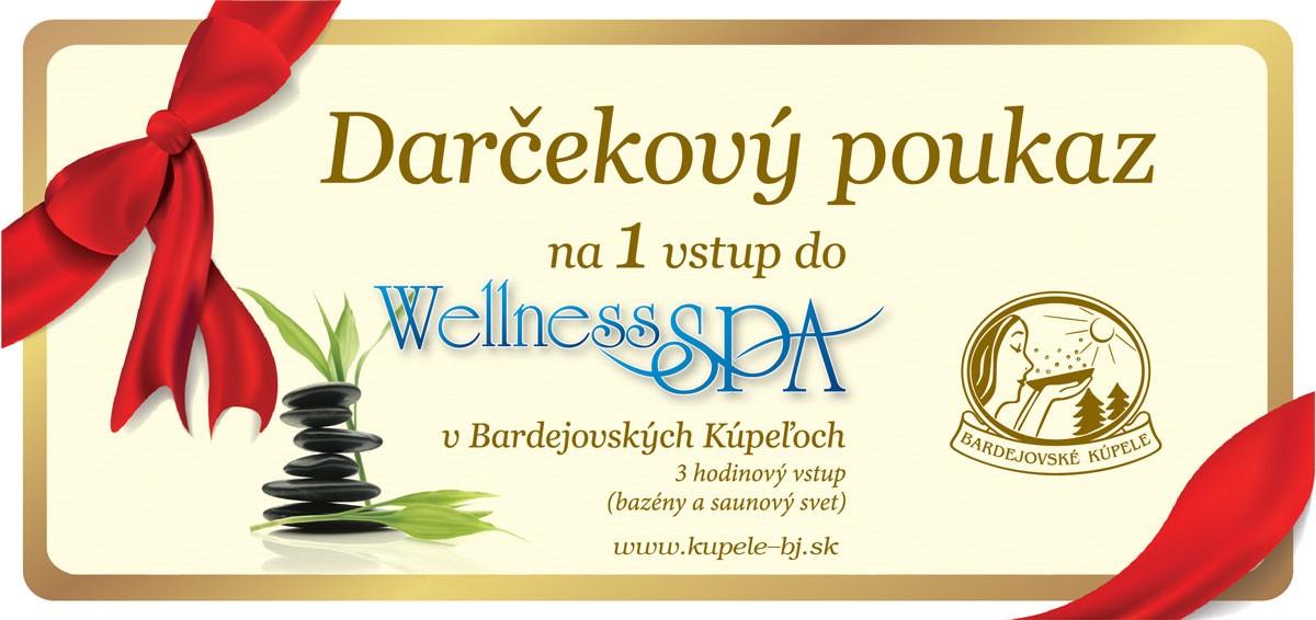 Darčekový poukaz Wellness spa